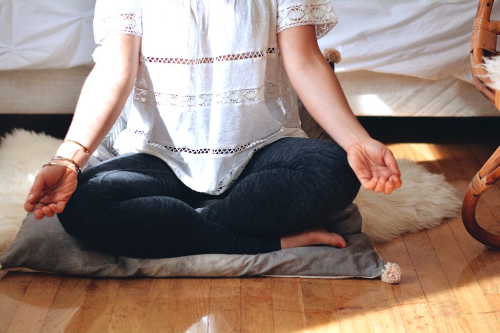 meditation pillow hardwood floors