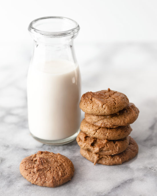 Sunbutter Gluten Free Cookies with dairy-free almond milk