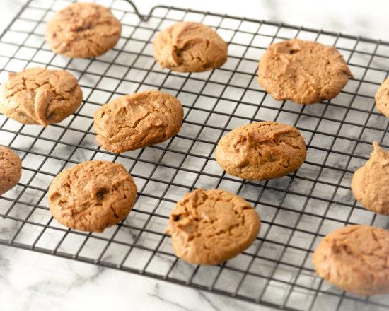 Sunbutter Gluten Free Cookies on cooling rack.