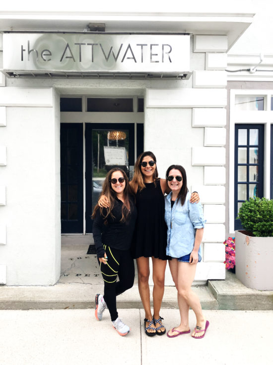 Kerri Axelrod with friends at their hotel, the Attwater in Newport Rhode Island