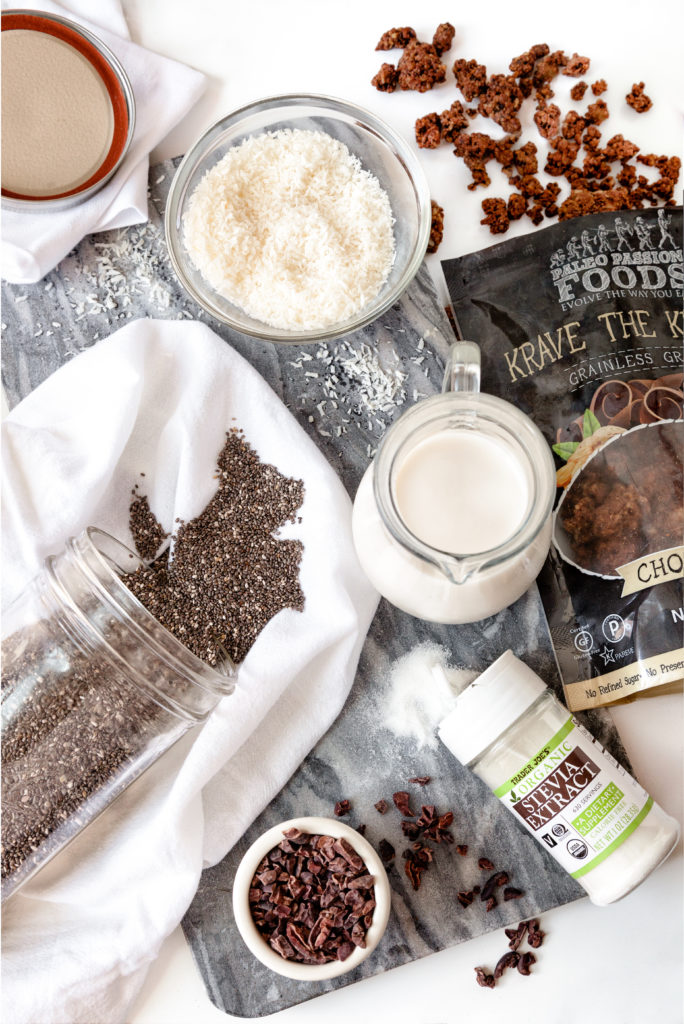 Organic Ingredients paleo chocolate chia pudding and Paleo Passion Foods Krave the Krunch
