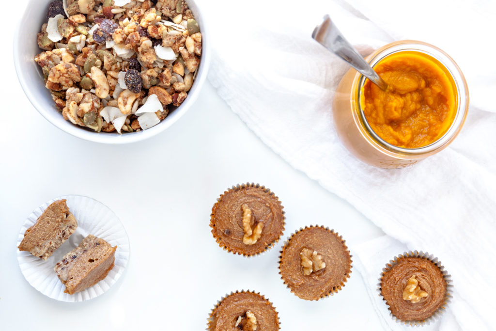 Mindful Eating tips and Paleo Pumpkin Pie KitchFix Granola cup recipe