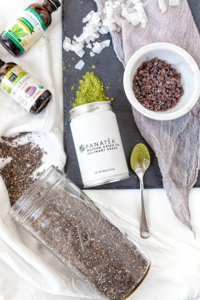 Kerri Axelrod Mint Chocolate Chia Pudding Recipe using Panatea