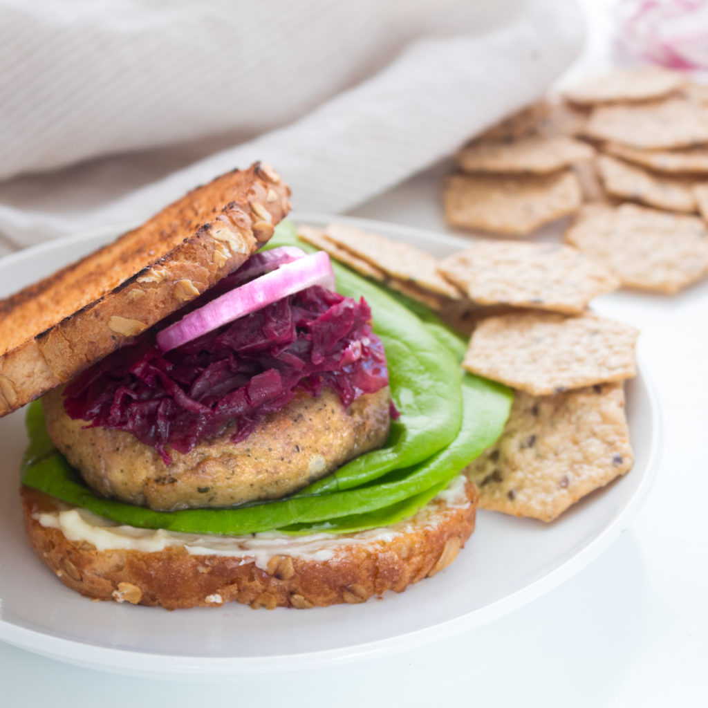 Kerri Axelrod Turkey Burger Recipe featuring Crunch Master