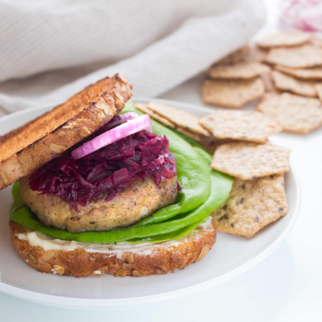Kerri Axelrod Turkey Burger Recipe featuring Crunch Master