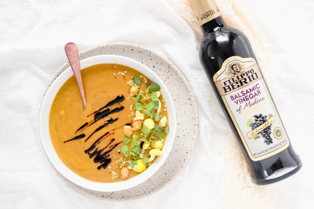 Kerri Axelrod Gluten Free Cauliflower Soup with Filippo Berio