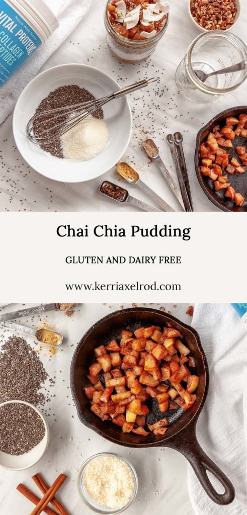 Dairy free and gluten free chia pudding